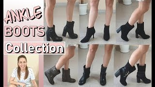 MY ANKLE BOOTS COLLECTION + NEW PAIR OF SHOES FOR SPRING/SUMMER||ZARA, NEW LOOK, ANNA FIELD & MORE