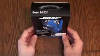 Bose MIE2i Mobile Headset for iPhone iPad and iPod Unboxing and Review  German