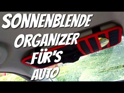 Sonnenblenden Organizer für's Auto von AOMASO im Review Test
