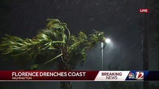 Hurricane Florence drenches coast of North Carolina