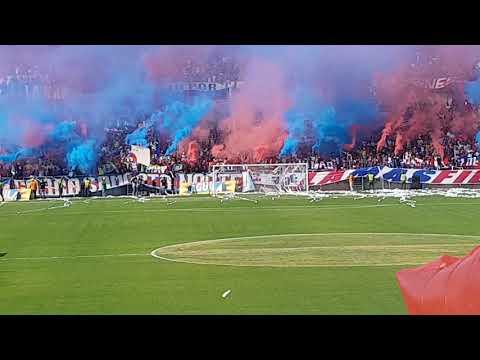 """Entrada Unión Magdalena vs Quindío."" Barra: Garra Samaria Norte • Club: Unión Magdalena"