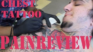 Tattoo Pain Review: Chest, Around The Nipple, Center Of Chest
