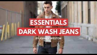 Dark Wash Jeans/Denim - Mens Wardrobe Essentials - Indigo, Blue
