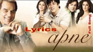 Apne To Apne Hote Hain Title Track - Lyrics | Bobby Deol