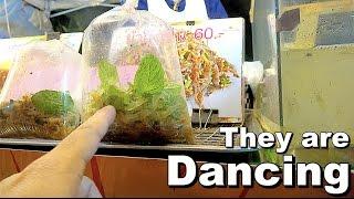 Dancing Shrimp Salad | Street Food in Chiang Mai Thailand