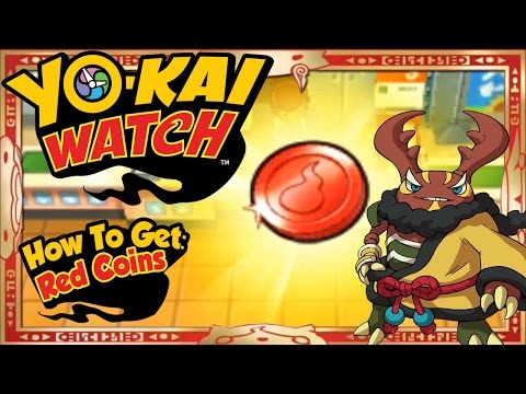 Yo-Kai Watch - How To Get Infinite Red Coins & RARE Cruncha EASY! [Tips & Tricks]
