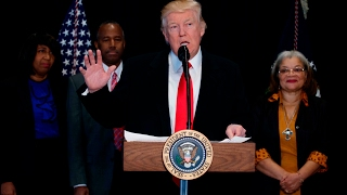 Trump denounces wave of anti-Semitism as