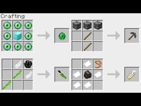 NEW Minecraft 1.14 Crafting Recipes!