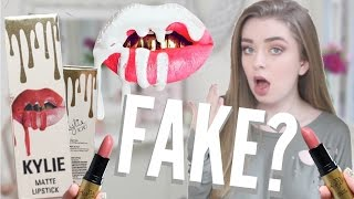 BRAND NEW KYLIE COSMETICS LIPSTICKS TESTING FAKE KYLIE JENNER PRODUCTS