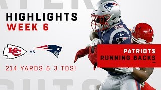 Pats RBs Combine for 214 Total Yards & 3 TDs!