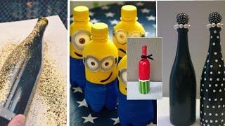 Bottle Art | Simple Bottle Design Ideas | Bottle Paintings Ideas |  Glass Bottle Decoration