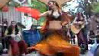 Gypsy-style Woman Dances And Twirls