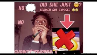 Reacting To Carmen From Carmen And Corey Getting Exposed 😳#MustWatch❤️