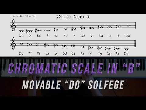 "Sing and Play the ""B"" Chromatic Scale"