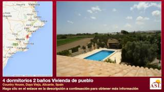 preview picture of video '4 dormitorios 2 baños Vivienda de pueblo se Vende en Country House, Daya Vieja, Alicante, Spain'