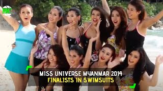 Miss Universe Myanmar 2014 Finalists in Swimsuit