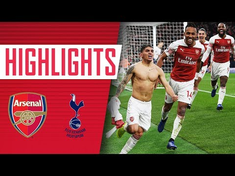 Arsenal 4 - 2 Tottenham   Goals, highlights, fans & celebrations