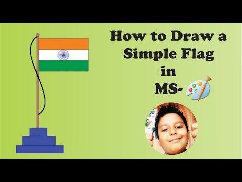 Draw Indian Flag Step By Step In Ms Paint Paint With Me Video