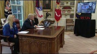 Trump Congratulates Astronaut On Flight Record - Full Event