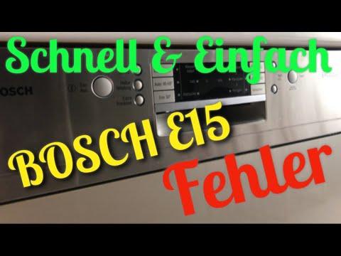 Bosch Dishwasher E15 Error - смотреть онлайн на Hah Life