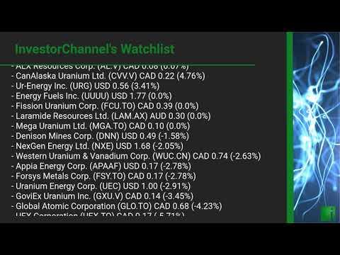 InvestorChannel's Uranium Watchlist Update for Monday, Aug ... Thumbnail