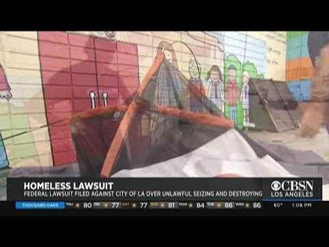 LA Sued For Seizing Homeless Property During Sweeps