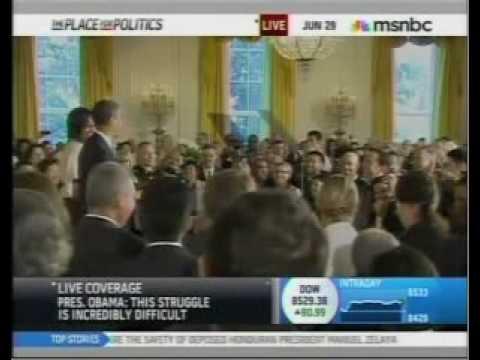 Journo Interrupts Obama With Quacking Duck Ringtone