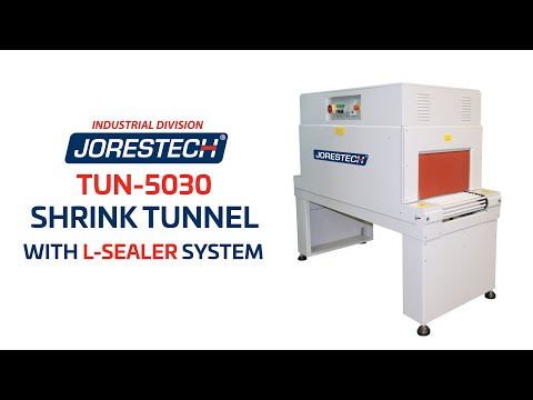 "Shrink Tunnel and L-Type Bar Sealer, Jores Technologies JORESTECH™ 40"" x 17 1/2"" x 10"" Stainless Steel Shrink Tunnel (E-TUN-4525-S/S)"