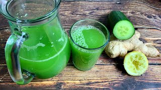 DETOX DRINK RECIPE    GREEN JUICE FOR DETOXING AND WEIGHT LOSS    TERRI-ANN'S KITCHEN