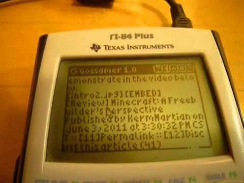 A Web Browser For Your… Graphing Calculator?