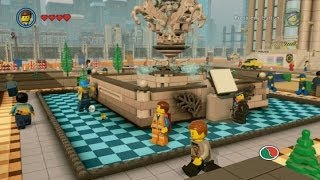 The LEGO Movie Videogame - All Red Bricks in Bricksburg (Bricksburg 100% Guide)