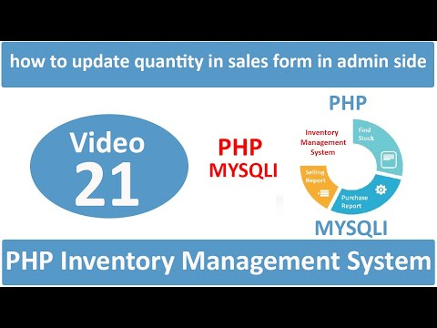 how to update quantity in sales form in admin side in php ims