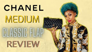 CHANEL MEDIUM CLASSIC FLAP REVIEW | CHANEL CLASSIC FLAP *WHAT FITS & MOD SHOTS*
