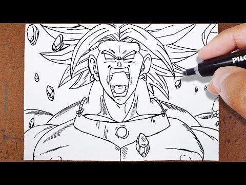 como desenhar broly o lendário super saiyajin dragon ball z