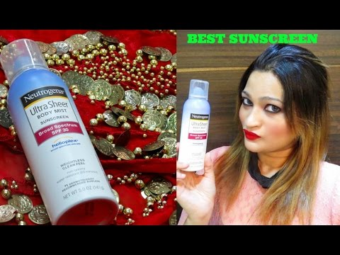 THE BEST SUNSCREEN AVAILABLE IN INDIA -Neutrogena Ultra Sheer Body Mist