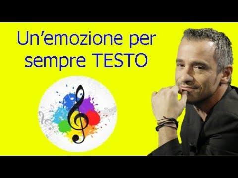Eros Ramazzotti-Un'emozione per sempre (testo in italiano)
