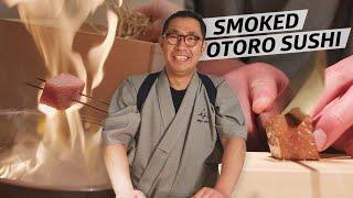 How Sushi Master Hisashi Udatsu Makes Smoked Otoro at His Tokyo Restaurant — Omakase thumbnail