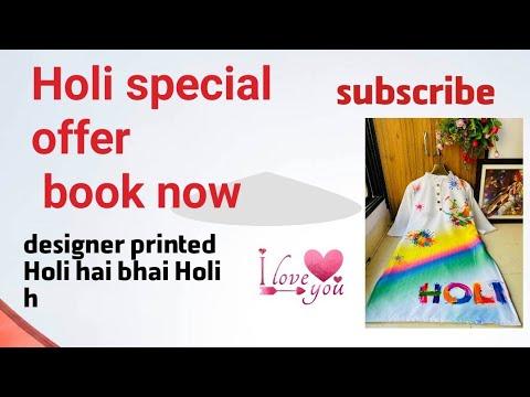 Girls Special Holi Kurti