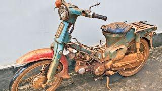 Honda Super Cub C50 Full Restoration - Will It Run After 40 Years?