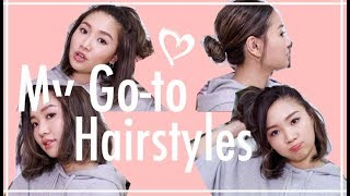 🎃 日常頭髮造型分享(中短髮) Step By Step | Pumpkin Jenn🎃