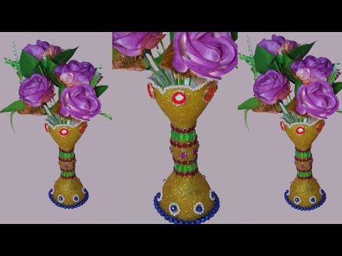 How To Make Flower Vase With Plastic Bottle Best Out Of Waste