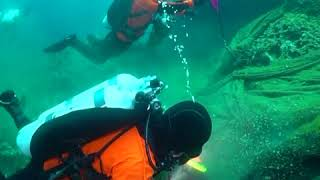 Fishing nets removed from seabed in Greece