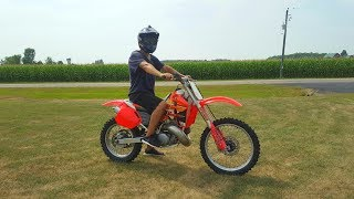 Honda Cr 500 Full Throttle!!!