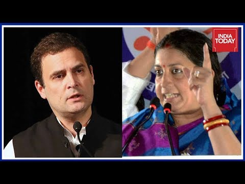 Smriti Irani Hits Out At Rahul Gandhi Over His Berkeley Speech