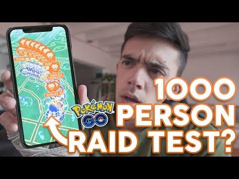 1000 PERSON RAID TEST AT POKÉMON GO FEST??