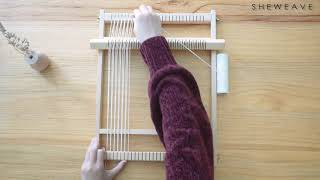 The Installation And Usage Of Small Weaving Loom