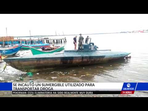 Descubren moderno semisumergible al servicio del narcotrafico en Tumaco