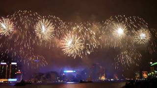 Video : China : Chinese New Year fireworks, Hong Kong 香港
