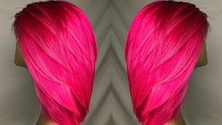 BRIGHT PINK HAIR 💖💖 | Pink Panther Inspired Hair Color | VLOGMAS