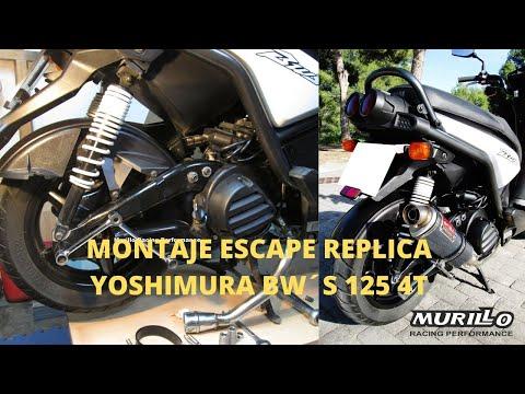 Tutorial montaje escape Yamaha BWS 125 4t, paso a paso. (Silenciador Réplica Yoshimura Aliexpress)
